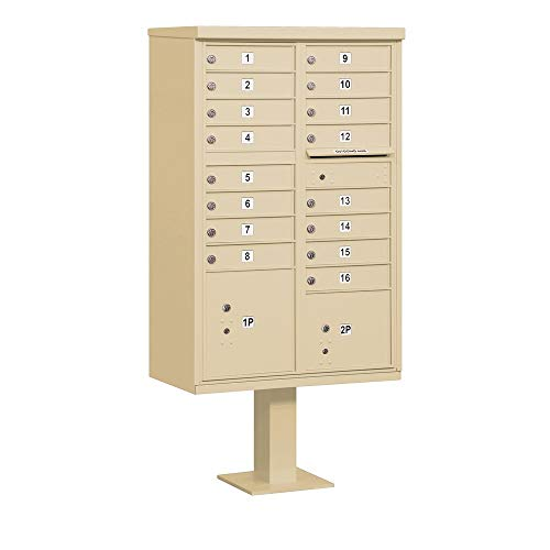 Cluster Box Unit (CBU's) Mailboxes (16 A Doors - 2 Parcels Lockers, Sandstone)