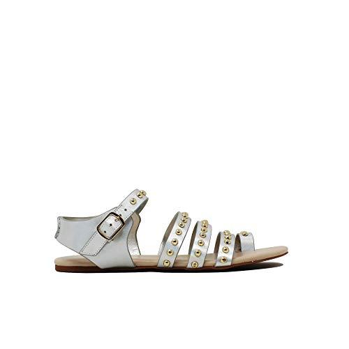 IOANNIS , Damen Sandalen Silber Silber/schwarz, Silber - Silber/schwarz - Größe: 39 EU