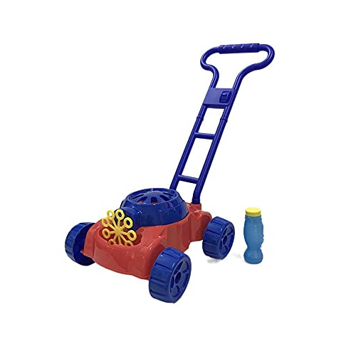 YAWIGS Bubble Machine, Bubble Makers, Lawn Mower Styling, Wide Handle, Can Push Wheels, For Children 3 Months And Older, Electric Bubble Gun Toy.