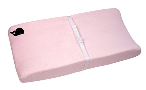 Nautica Kids Nursery Separates Super Soft Changing Pad Cover, Pink & Navy Whale