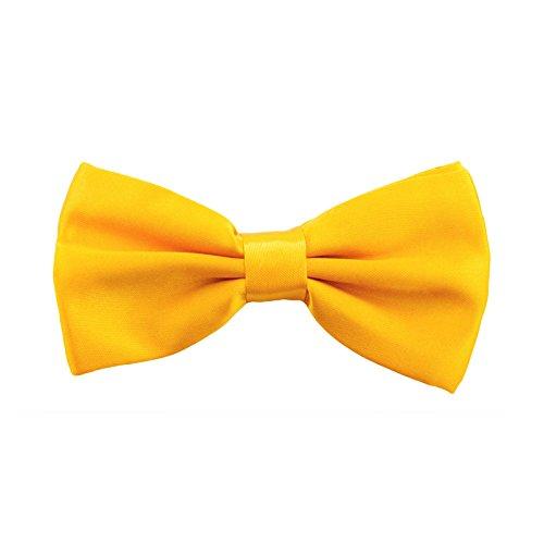 Oblique-Unique Kinder Fliege Schleife Größe verstellbar Festlichkeit Hochzeit Anzug Smoking (Gelb)