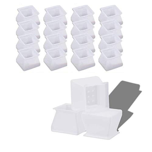 16 Pièces Silicone Chaise Casquettes Pieds Tampons Couvre-Pieds de Chaise Carrées de Protège-Jambes Chaise Jambe Sol Protecteurs Pied de Table Caps Pour Chaise Table Sofa de Maison