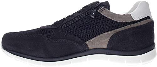 Nero Giardini Uomo P900840U Sneaker camoscio/Tess Blu (43 EU)