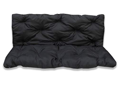 4myBaby GmbH Best for Garden Coussin d'assise avec dossier pour 2 personnes Noir 120 x 60 x 50 cm