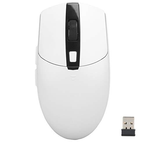 Ratón inalámbrico 2.4G, ratón móvil portátil, para el hogar/la Oficina para el Cuaderno(White)