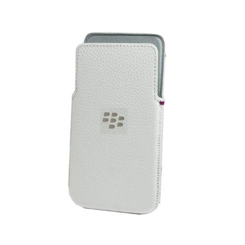 BlackBerry Z30 Leder Pocket Hülle weiß