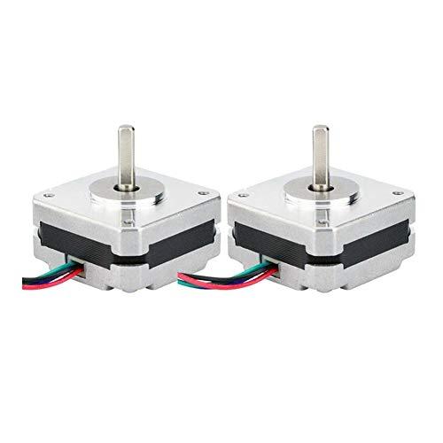 Mini Motor 2Pcs 17Hs08-1004S 4-Lead Nema 17 Stepper Motor 20mm 1A 13Ncm(18.4Oz.in) 42 Motor Nema17 Stepper for DIY 3D Printer CNC Xyz (Shaft Diameter : 5mm)
