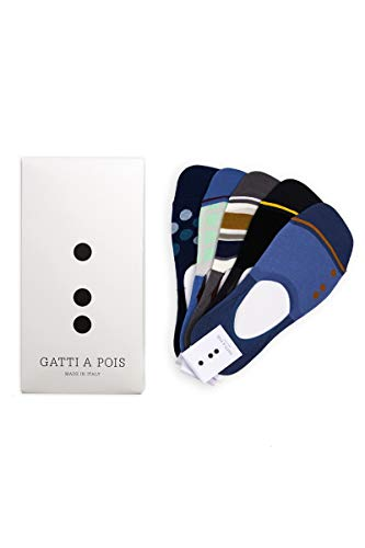 Gatti a Pois - Chaussettes de sport - Homme Multicolore Modelli Match Point, Indoor, Gazon, Killer Point E Backspin 40-46