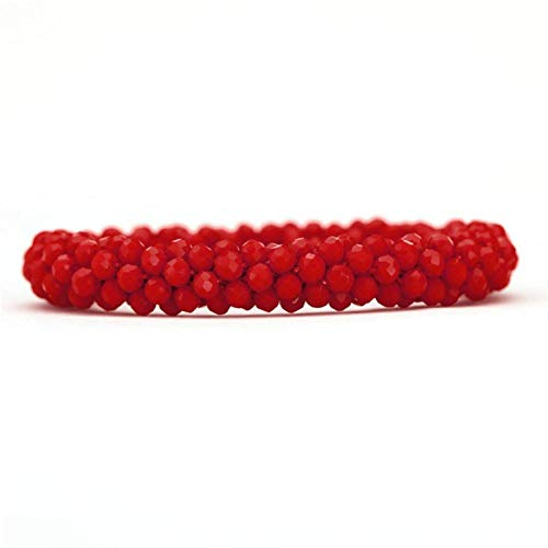DMUEZW Colorido Bling Crystal Beads Strand Pulseras para Las Mujeres Charms Pulsera Accesorios de Joyería Masculina Dropshipping Pulseras Brazaletes