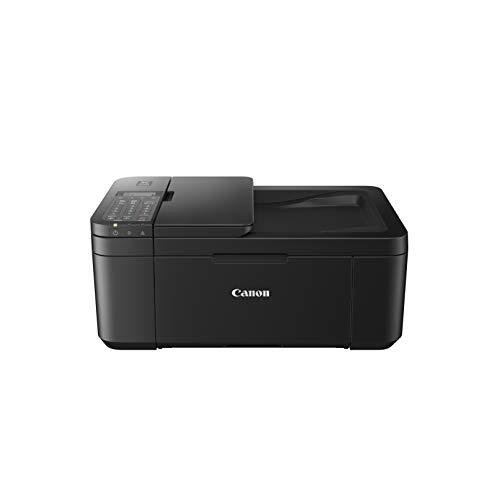 Canon PIXMA TR4550 Drucker Farbtintenstrahl Multifunktionsgerät DIN A4 (Farbdruck, Scanner, Kopierer, Fax, 4 in 1, 4.800 x 600 dpi, USB, WIFI, WLAN, Duplexdruck, Print App) schwarz