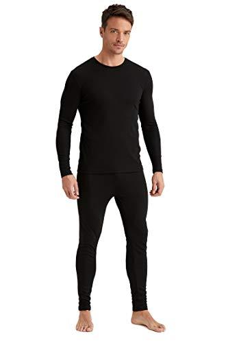 DeFacto Pantalones de chándal y Ropa Interior térmica para Hombre Viscosa 35% poliéster y 65% Negro XL