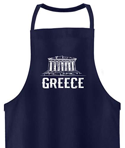 Schuhboutique Doris Finke UG (haftungsbeschränkt) Giechenland Athen Akropolis Parthenon Te - Hochwertige Grillschürze -Einheitsgröße-Dunkel-Blau