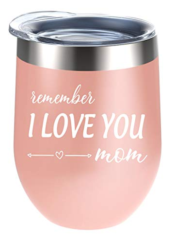Alexanta Mom Tumbler - Christmas Gifts for Mom, Gifts for Mom from Daughter, Mom Gifts from Son, Mother's Day Gifts for Mom, Birthday Gifts for Mom, Mom Gifts from Son - 12 Oz Wine Tumbler