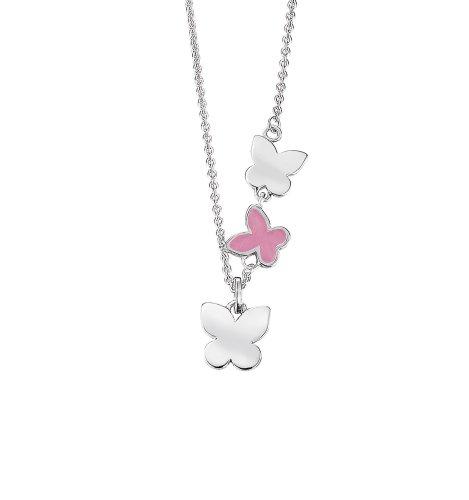 Esprit Kinder und Jugendliche-Halsband 925 Sterling Silber Sweet Flying Butterflies ESNL92148A340