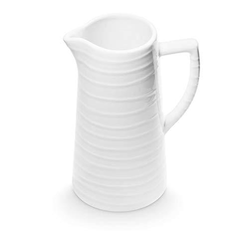 GMUNDNER - Jarra de agua de cerámica (1,2 L, vajilla de color verde y vajilla, hecha a mano en Austria)