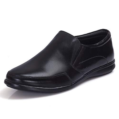 Burwood Men's Black Leather Formal Shoes-9 UK/India (43EU) (BW 92)