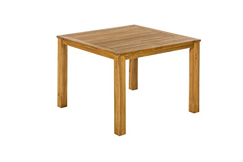 MERXX Tisch, Natur, FSC Akazienholz, 110x110x75cm, quadratisch