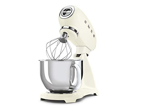 Smeg SMF03CREU robot da cucina 4,8 L Alluminio, Crema 800 W