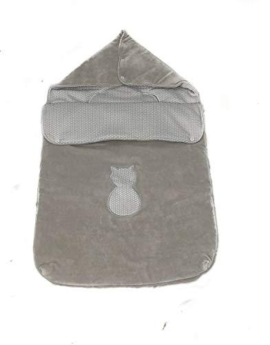 (Varios modelos) Saco nana capazo de invierno y grupo 0 bebe universal (Danielstore) (Gris gatito)