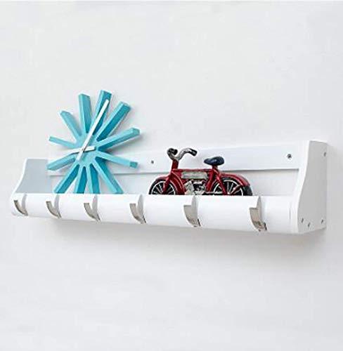 ZHOUMEI witte houten kast, Japanse Home Key Holder kleine keuken puin rack veranda ZHML Suspension beugel (Maat: 38CM)