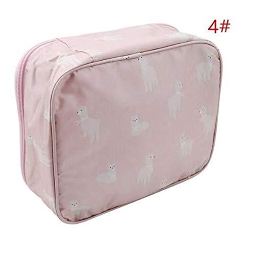 WEIHEEE Sac cosmétique à fleurs carrées avec poignée portable, pochette de maquillage multicolore de grande capacité pour les voyages,Couleur de l'image 3