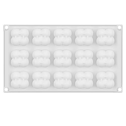 Gosear 15 Griglia Mini cubo 3D Stampo in Silicone Stampo per Candela Fai da Te Aroma Aroma Argilla polimerica budino Bagno al Cioccolato Bomba Torta Fondente