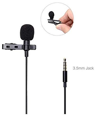 ROSEBEAR Professionele Lavalier 3. 5 Mm Clip-On Revers Microfoon Handsfree Ruisonderdrukking Bedrade Omnidirectionele Condensator Mini Lavalier Microfoon Voor Podcast Opname Dslr Camera Pc