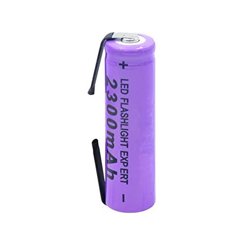 RitzyRose BateríA De IóN De Litio De 3.7v 2300mah 14500, Recargable para El Banco del Poder De La Linterna del LED 1pieces