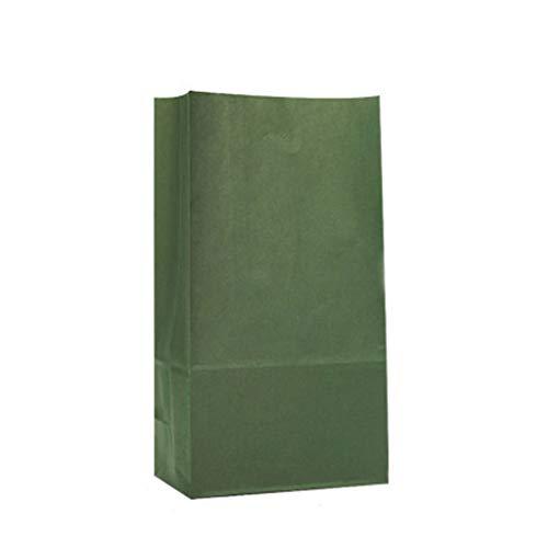 LLKK Bolsitas de Regalo Navidad,Bolsa de Dulces navideños,Bolsa de Papel Kraft,Material ecológico,Reutilizable,100 Piezas
