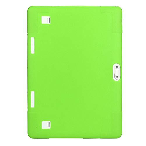 10.1 Étui Universel en Silicone Souple pour 10 10.1 Pouces Android Tablet PC Antichoc Couleur Solide Couverture arrière Coque de Protection-Vert_Chine