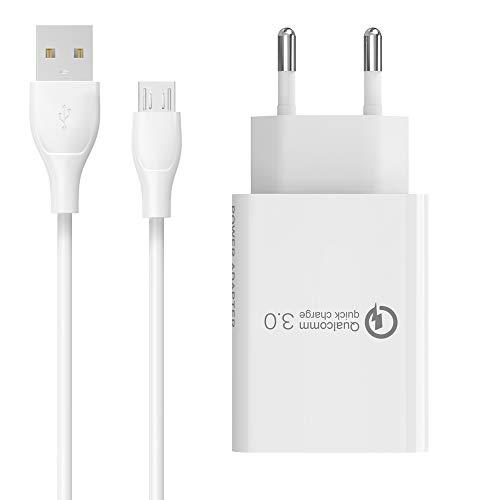 BERLS Cargador Micro USB 5V / 3A con Cable USB 3.0, Carga...