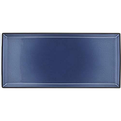 Revol RV649568 Assiette à Servir Equinoxe, Porcelaine, Bleu Cirrus, 32,5 x 15 x 1,8 cm