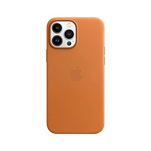 Apple Leder Hülle mit MagSafe (für iPhone 13 Pro Max) - Goldbraun
