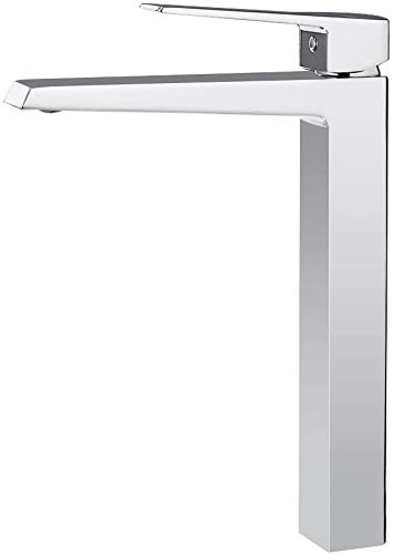 ubeegol Waschtischarmatur Hoch Wasserhahn Bad Elegant Waschtischmischer Armatur Einhebelmischer Hohe Badarmatur Mischbatterie Waschtisch Armatur für Bad, Chrom
