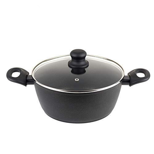 Progress BW08039EU Non-Stick Diamond Stock Pot, 24 cm