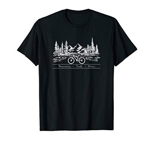 Mountain Bike MTB Shirt Mountains Trails Bikes T-Shirt