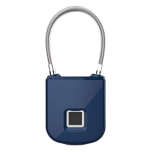 FlexSafe Biometric Fingerprint Lock with Removable & Interchangeable Cables (Includes Travel Cable, Heavy Duty Cable, Sport Cable and Bike Cable). USB Rechargeable and Waterproof. by AquaVault