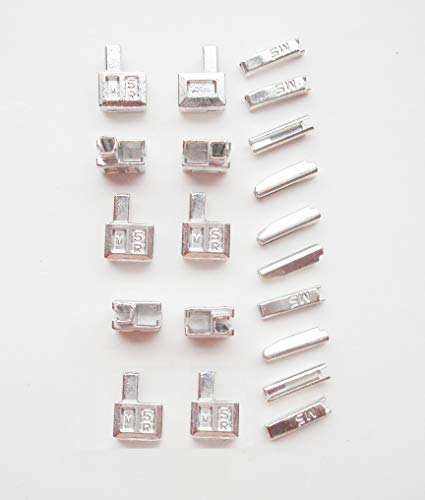 20 cajas #5 de cierre de metales y cierres de cierre, cierre de la parte inferior de la cremallera para reparar el paquete, reemplazando el cierre de la cremallera de separación (Plata)