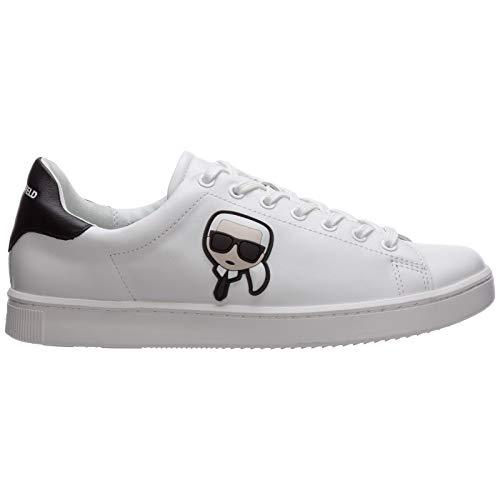 Karl Lagerfeld KOURT Karl IKONIC 3D LACE Sneaker Herren Weiss - 45 - Sneaker Low