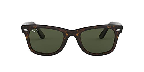 Ray-Ban RB2140 Original Wayfarer Sunglasses, Tortoise/Green, 50 mm