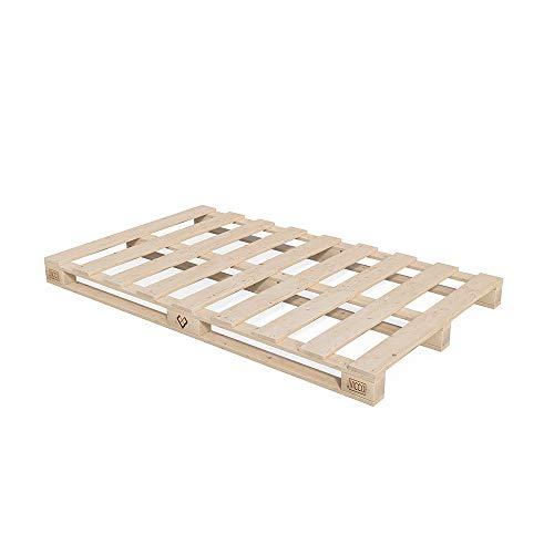 Vicco Palettenbett Bett Holz Massivholzbett 90 100 120 140 160 180 200 x 200cm, Palettenmöbel Made IN Germany (140x200)