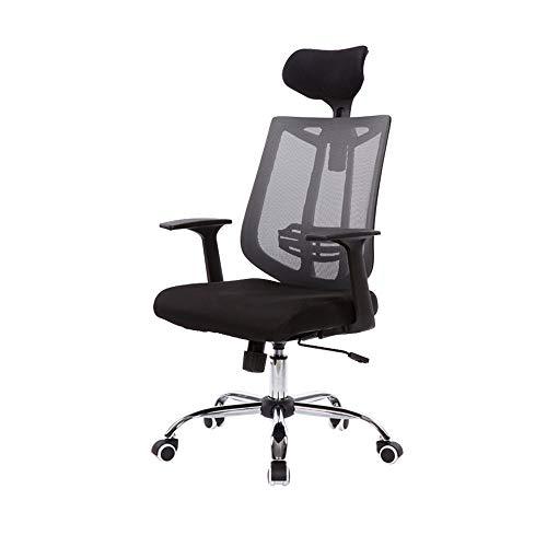 TXOZ - Silla de oficina ergonómica con reposabrazos, color gris