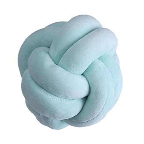 Kongqiabona-UK Oreiller décoratif Oreiller Nordique créatif Boule nouée à la Main Maison bébé Mignon Oreiller Coussin Simple Coussin de Voiture
