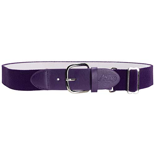 ADAMS USA Adult Elastic Belts Elastic Baseball/ Softball Belt, Purple, 1 1/4' 18-32'
