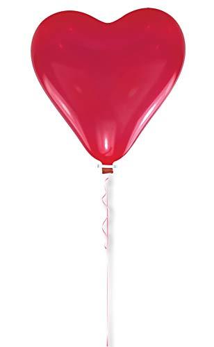 amscan Latex Riesenballon Herz 170 cm, Rot