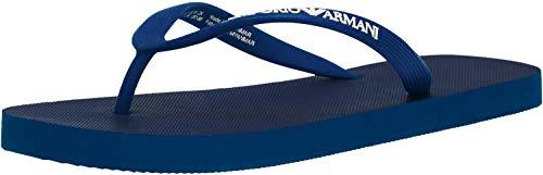 Flip flops thongs slipper man sea or pool swimwear EMPORIO ARMANI item X4QS02 XL827 FLIP FLOP, 00087 Cobalto - Cobalt, EU 45 - UK 10,5 - USA 11 - CN 291/97