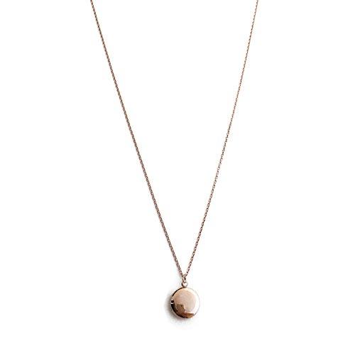 HONEYCAT Keepsake Mini Locket Necklace in 18k Rose Gold Plate | Delicate Jewelry (RG)