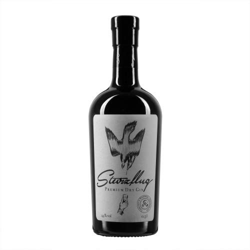 Sturzflug Premium Dry Gin Zitrusfrischer Gin aus der Destille von Sternekoch Josef Bauer (1 x 0.5 l)