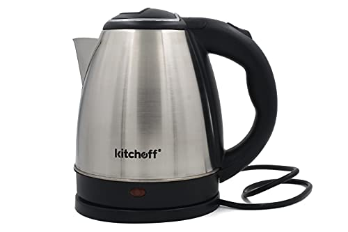 Kitchoff Automatic Stainless Steel Electric Kettle Heavy Body Extra Large Kettle with Handle for Home & Office (KL-1.5, 1.5L)