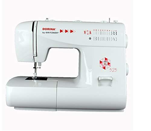 Gritzner - Máquina de coser Dorina 323 23 23 puntadas de utilidad y puntadas decorativas para cualquier tela para bricolaje y hobby